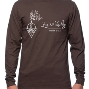 Long Sleeve Zen and Vitality Logo T-Shirt
