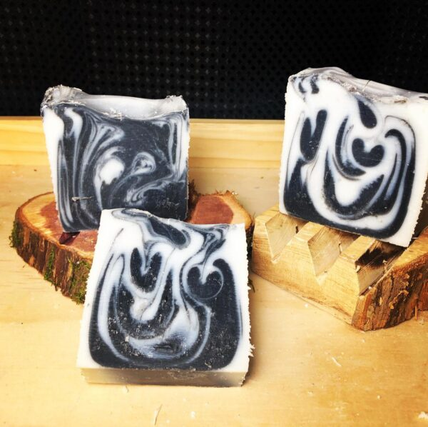 Activated Charcoal soap made with coconut oil for detoxification