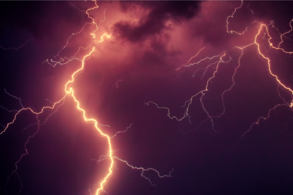 Lightning to signify existing pain