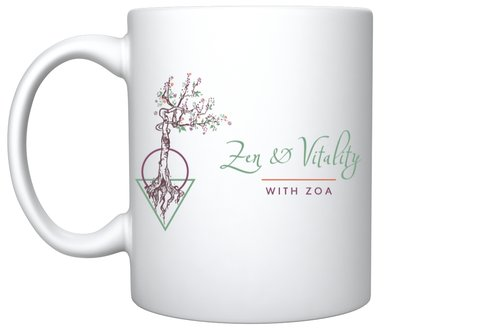 Zen and Vitality Logo Mug
