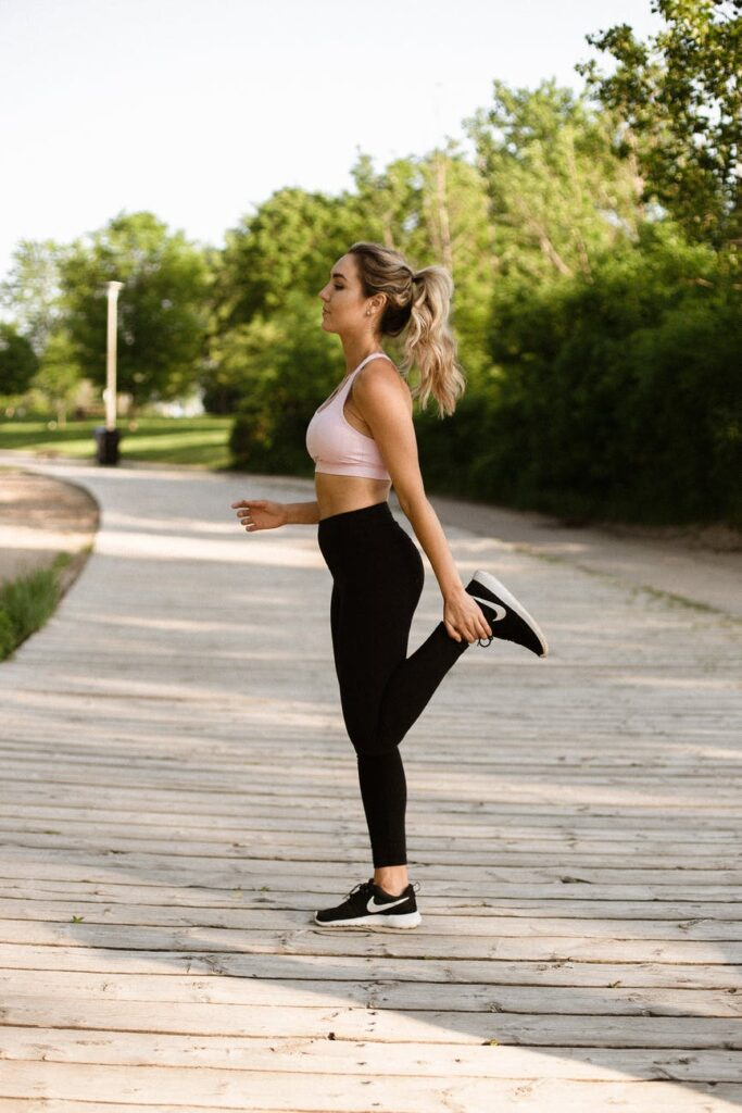 photo of woman doing exercise