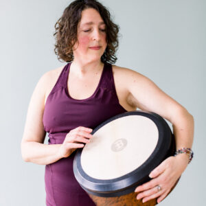 Zoa uses drums and other instruments for her meditation recordings