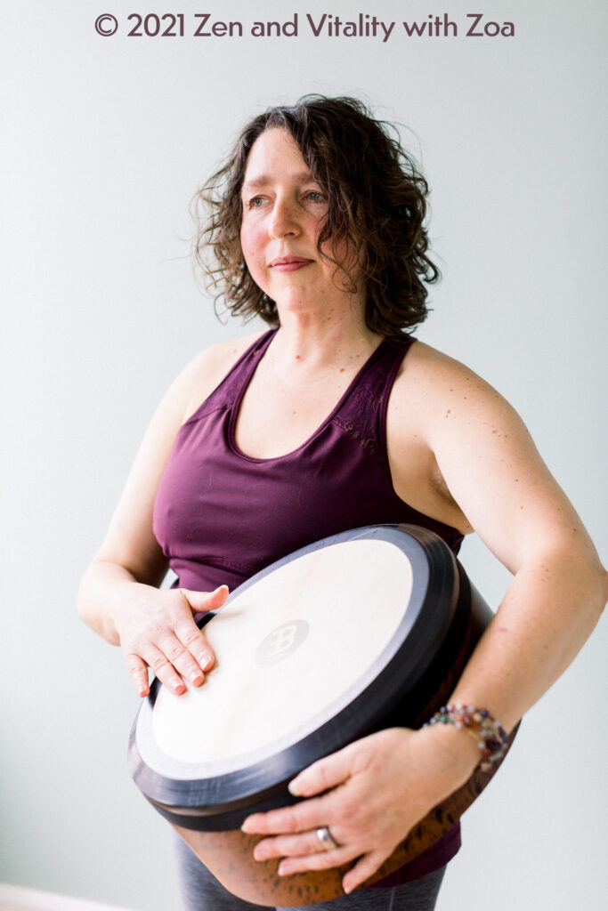 Zoa uses drums and other instruments for her personalized meditation recordings