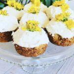 Dandelion Cupcakes from Mama Bears Elderberries