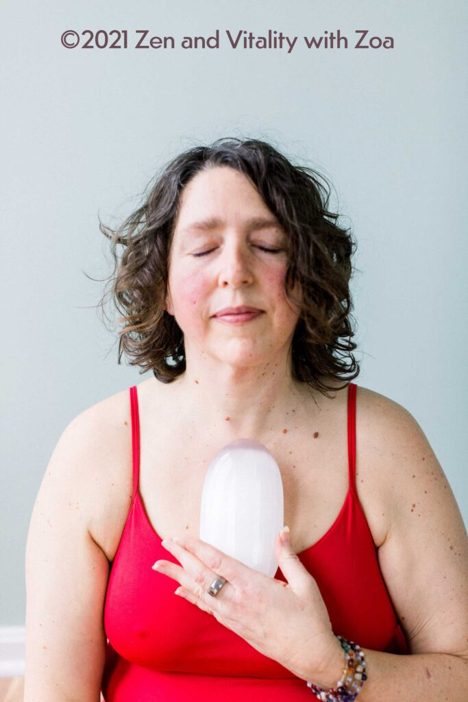 Selenite crystal encourages positive energy and thoughts