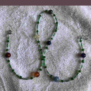 Chakra gemstone necklace - green