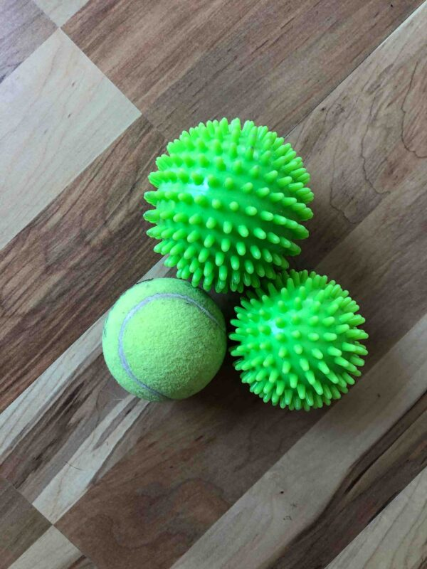 Hard spiky balls for deep fascial release