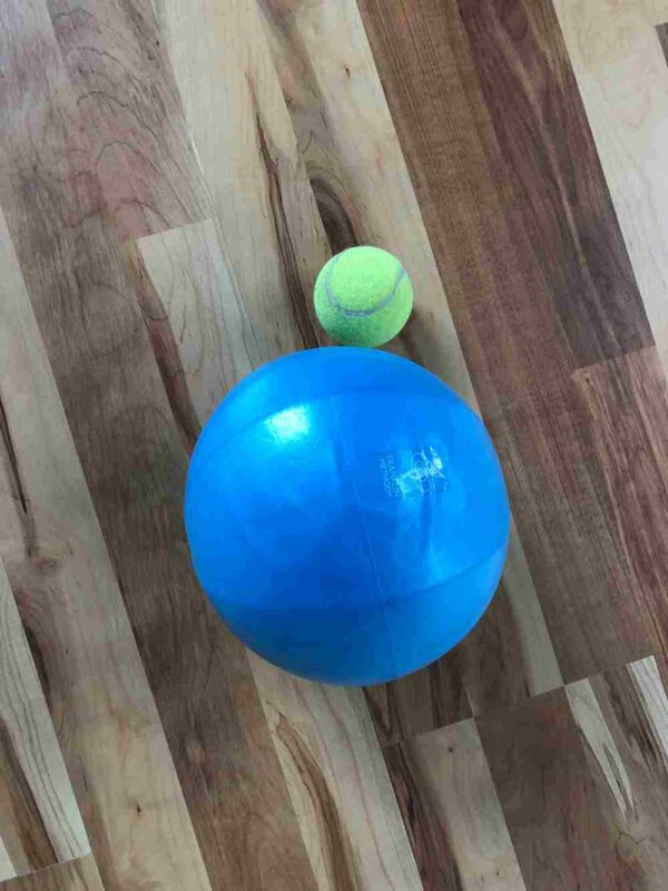 9 inch stability ball for fascial movement and resistance work